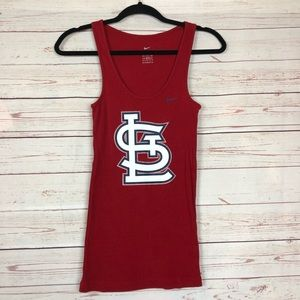 Nike St. Louis Cardinals Red Tank Tee Size S
